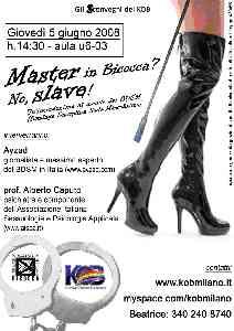 Locandina seminario BDSM in Bicocca