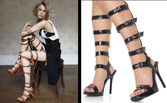 fake fetish fashion comparison - shoes
