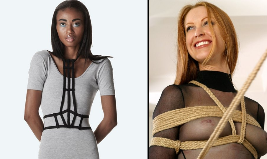 fake fetish fashion comparison - bondage