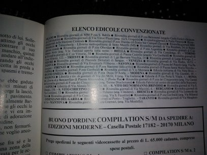 List of BDSM newstands in Italy, circa 1980