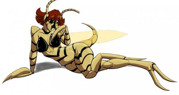Scary girl-hornet mutant
