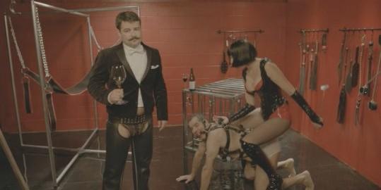 Sexual chocolate wine BDSM ad campaign