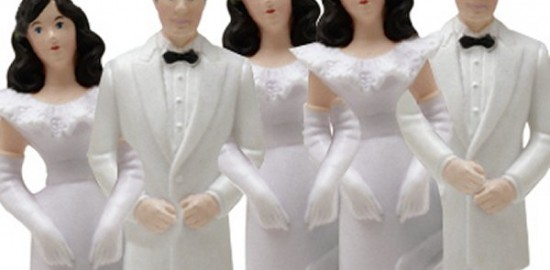 polyamory wedding cake