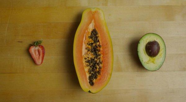 three sliced fruits