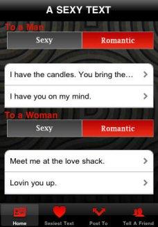 a sexy text app