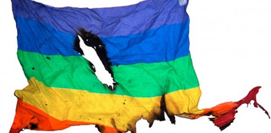 defiled rainbow flag