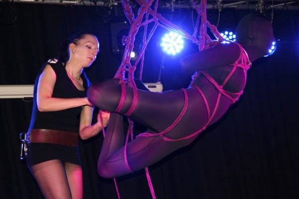Bondage show at Boundcon 2014