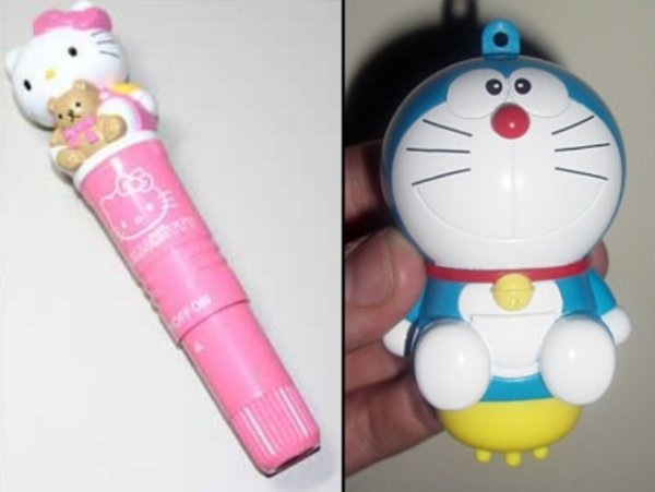 Hello Kitty and Doraemon vibrators