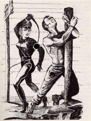 male prisoner in femdom labor camp