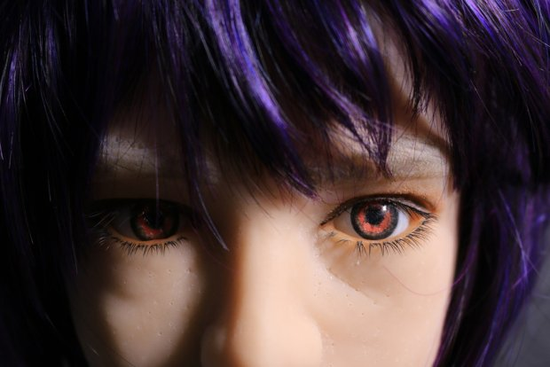 closeup doll face trottla