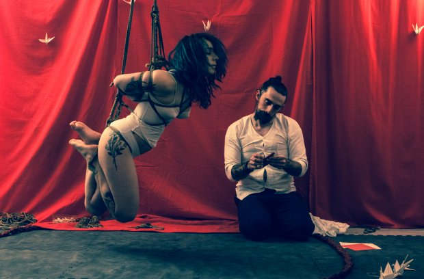 Model Clementine Poulain at Space Khymeia in Milan -Ph Isahn Rope