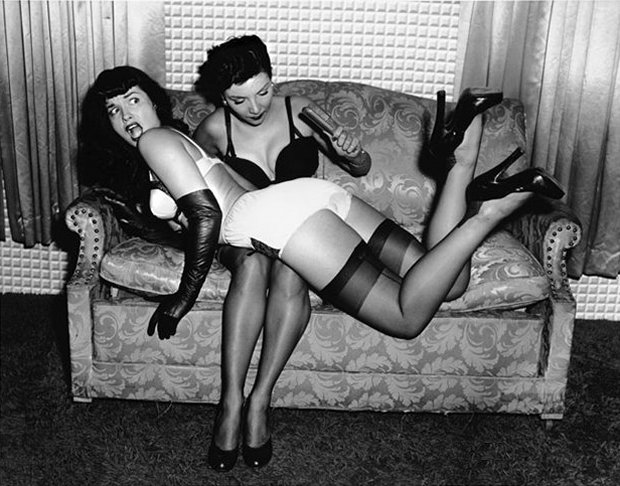 Bettie Page spanked
