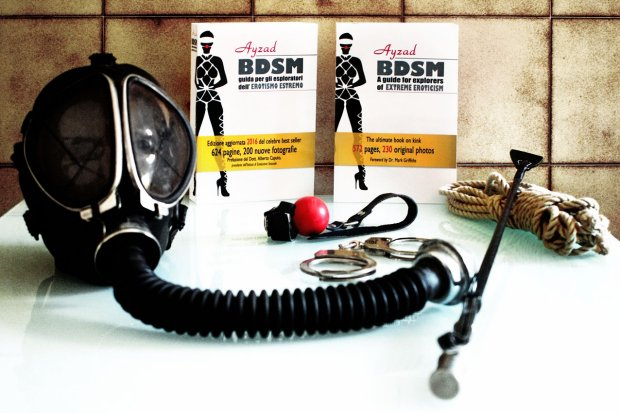Ayzad's 'BDSM - A Guide for Explorers of Extreme Eroticism' (with gas mask)