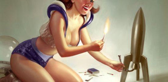 rocket girl vintage pinup